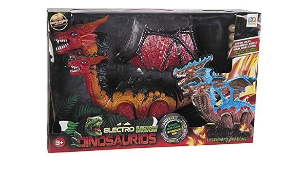 DQTOYS Dinosaurio Alado Andador 3 Cabezas con Huevos: Amazon ...