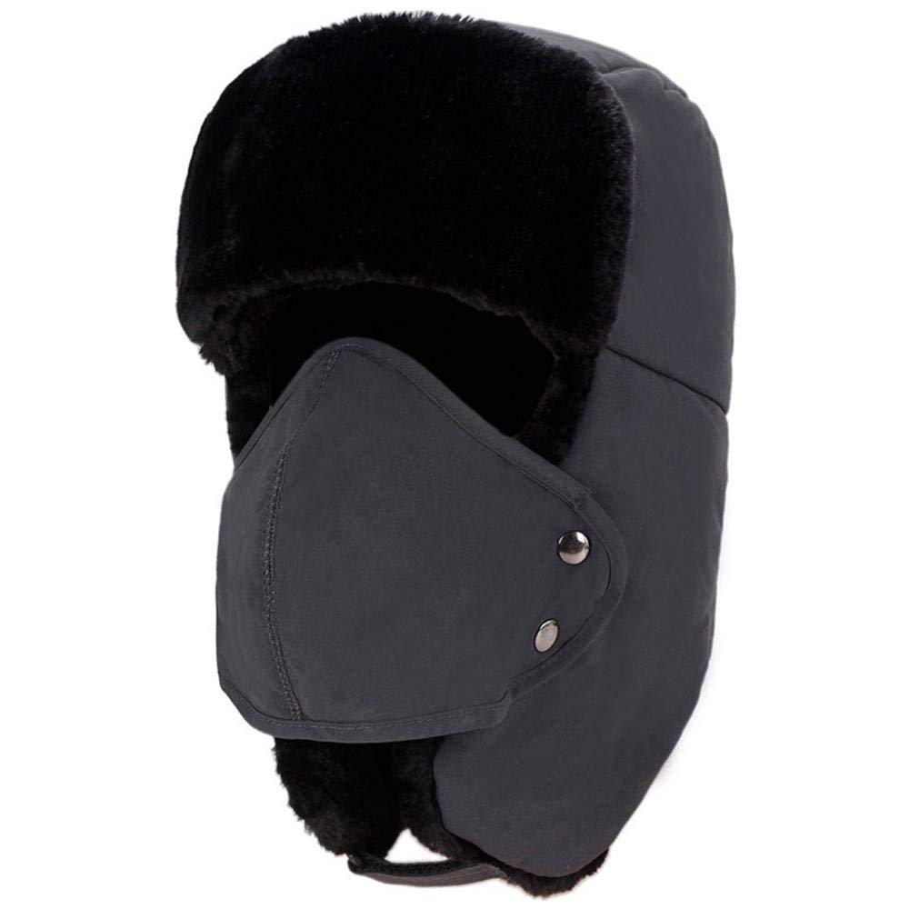 Umiwe Cappello Trapper Cappello da Aviatore Cappello da Cacciatore Invernale Cappello da Trooper con paraorecchie e Maschera Rimovibile, Antivento e Traspirante, Cappello da Caccia Invernale Cappello da Caccia Invernale (Grigio)