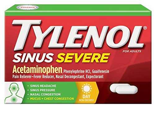 Johnson & Johnson 302622500 Tylenol Sinus Severe Congestion, 24 Pain Caplets, Daytime ()