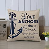 Best Anchor Gifts - Love Anchors The Soul Pillow Cover, Personalized Pillow Review