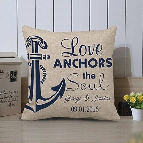 Love Anchors The Soule - Funda de cojín con Cremalleras (45 ...