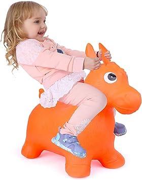 Amazon.com: Caballo hinchable para bebés, balancín de bebé ...