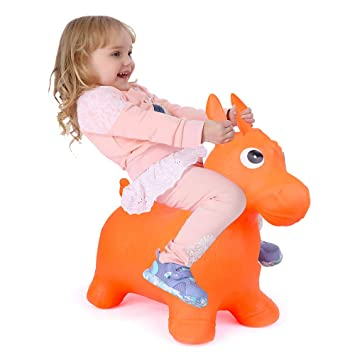 the best cost charm sneakers Bouncy Horse for Toddlers, Baby Bouncer Rocking, Bouncing Hopper Animals,  Kids/Infant Riding Sit and Spin Toys Girl Boy, Christmas Farm ...
