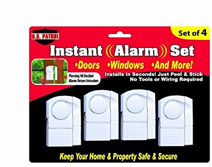 Amazon.com: US Patrol Set of 4 Instant Alarm Set: Home & Kitchen