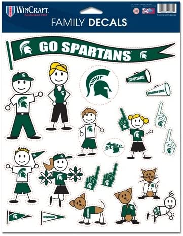 Michigan State Spartans Official NCAA 11x17 Family Car Decal by Wincraft
