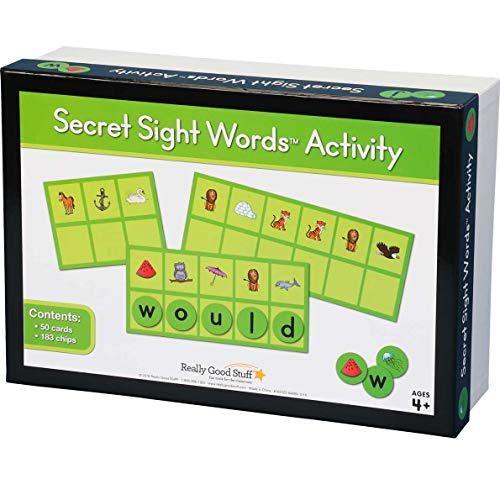 Really Good Stuff Secret Sight Words Activity -