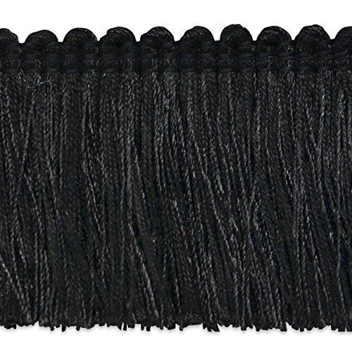 Black Fringe Brush (Expo International Alina Brush Fringe Trim, 10 yd, Black)