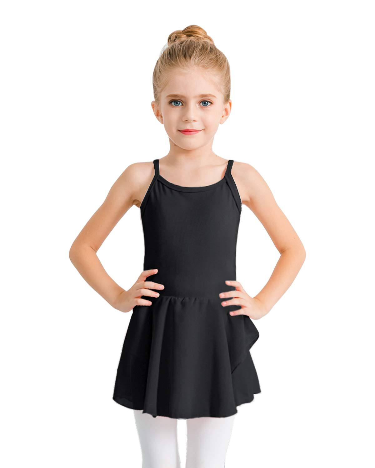 Stelle Girls Camisole Dress Leotard For Dance Gymnastics And Ballettoddlerlittle Girlbig Girlm Black