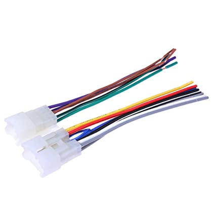 amazon com wiring harness plugs stereo cd player radio wiring image unavailable image not available for color wiring harness plugs stereo