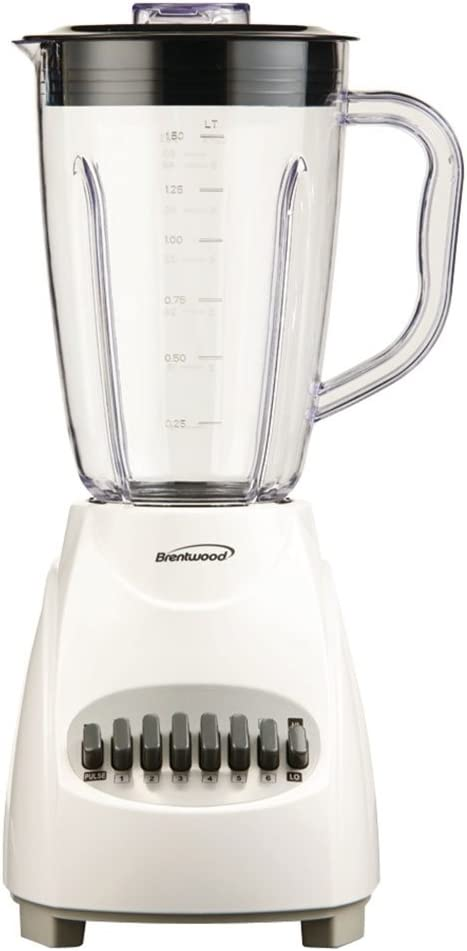 Brentwood JB-220W 12-Speed Blender with Plastic Jar (White)