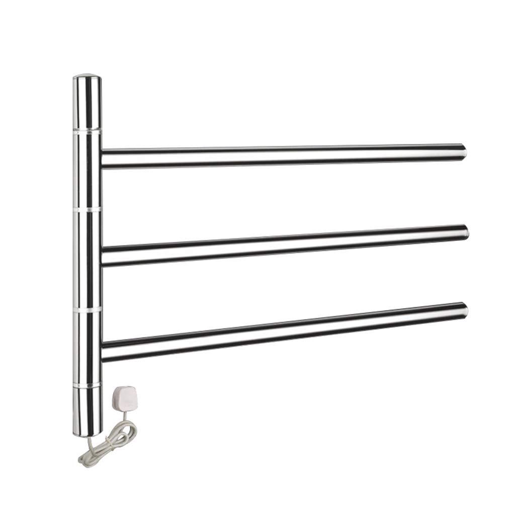 Electric towel rack Drehbarer elektrischer Handtuchhalter des rostfreien Stahls des Badezimmers 304 Badezimmerhandtuchhalter 47W