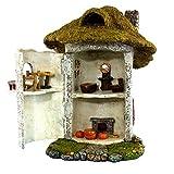 "Pretmanns Fairy Garden House Kit – Miniature Accessories & Furniture – House is 9.25""High – Door Opens Wide – Fairy Farm Collection – Fairy Garden Supplies"