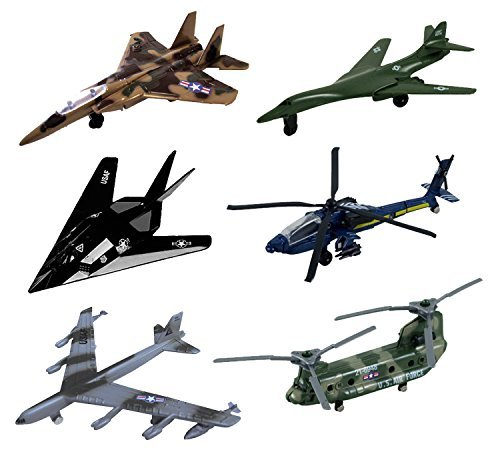 InAir Modern Planes 6 Piece Set with Aircraft ID Guide - Assortment 2 ()