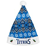 Forever Collectibles NFL Tennessee Titans Santa HatKnit, Team Colors, One Size