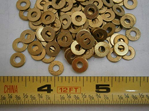 Flat Washers #4 Brass Lot of 75#3983 - Quality Assurance from JumpingBolt