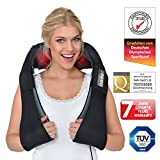 Donnerberg Shiatsu Back Neck and Shoulder Massager German Brand Electric Deep Tissue Kneading Pillow Massager with Heat and Vibration Muscle Tension Pain Relief 7 Years Warranty