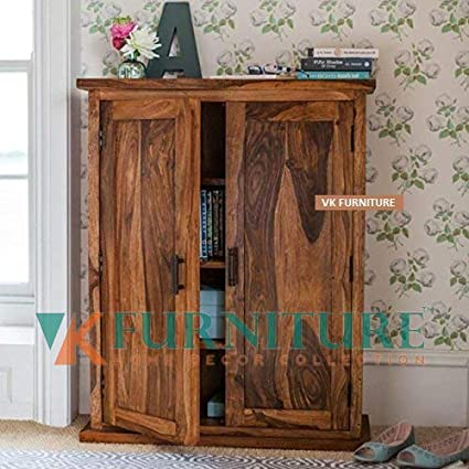 the best attitude 4b008 ab5bf VK Furniture Sheesham Wood Sideboard Cabinets for Living Room | Cabinet  Storage with 2 Door | Natural Brown Finish