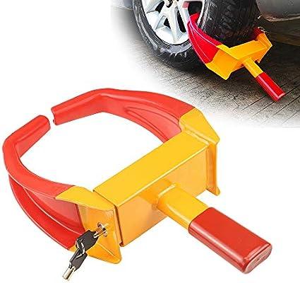 Key 2 Pack Red Wheel Clamp Car Caravan Trailer Motorhome Security Lock Claw