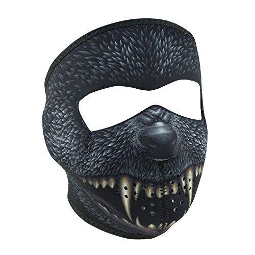 Black Grey Silver Bullet Werewolf Dog Reversible to