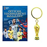 FIFA 2018 World Cup - Official Program & Trophy Keychain Combo Pack