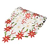Ocamo High-end Embroidering Table Flag Household Christmas Decoration Restaurant Polyester Table Runner