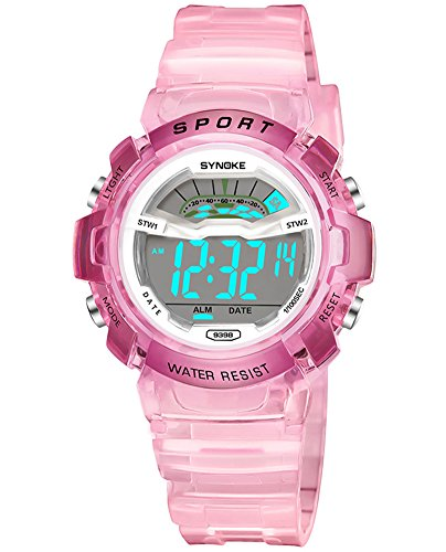 Cheamlion Kids Girls Pink Water Resistant Jelly Chronograph Digital Watch by Cheamlion