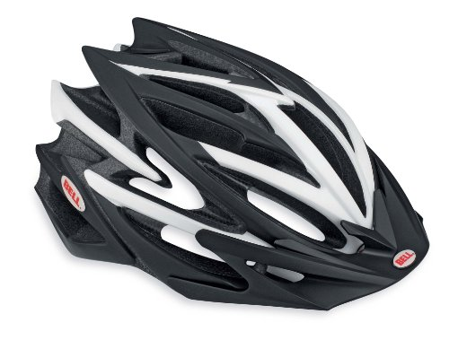 Bell Volt Racing Bicycle Helmet, Matte Black/White, Large