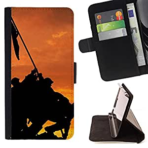 DEVIL CASE - FOR Samsung Galaxy S4 IV I9500 - Banner - Style PU Leather Case Wallet Flip Stand Flap Closure Cover