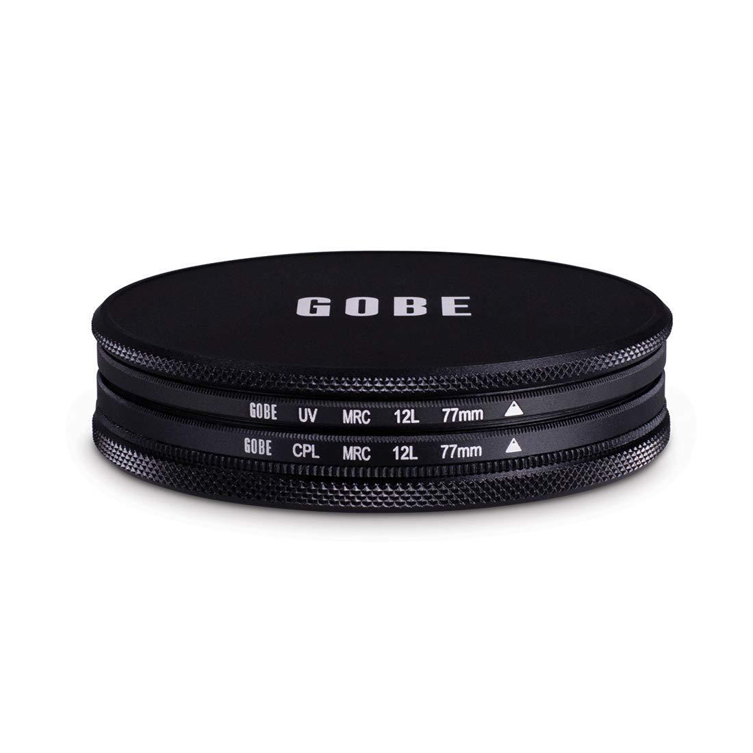 Gobe UV Polarisant CPL Kit de filtres 58mm /à 12 Couches MRC