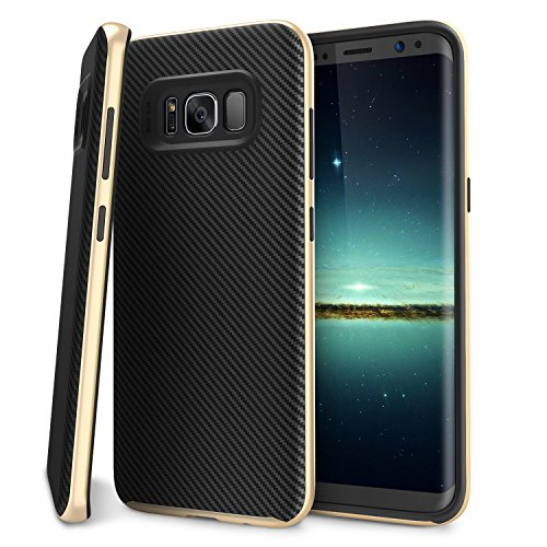 Galaxy S8 Plus Case, BASSTOP PREMIUM BUMPER Style Dual Layer Premium Case Slim Fit Heavy Duty Protective Cover for Samsung Galaxy S8 Plus 6.2 inch (Gold)