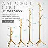Deluxe Wooden Coat Rack Tree – 8 Hook