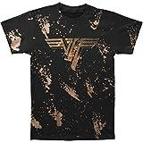 Van Halen Mens Classic Logo Bleach Dye Mens T T-Shirt Black