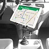 Cellet Tablet Mount with a Cup Holder Base Compatible for Apple iPad Pro 12.9 Air Mini 4 3 2 Air Samsung Galaxy Tab S5e S4 S3 A/E Amazon Kind Fire HD LG G Pad F2 8.0 Surface (13 inch Tall Straight)