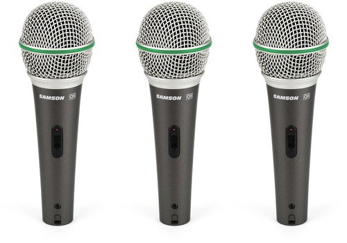 Samson Q6 Dynamic Microphone 3-Pack by Samson Technologies