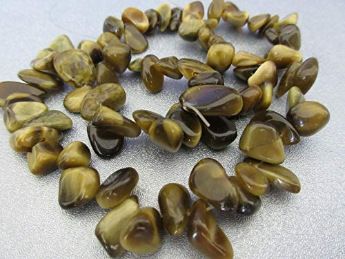 - Australia Tiger's Eye Top Drilled Nuggets Beads 75pcs #ID-3404