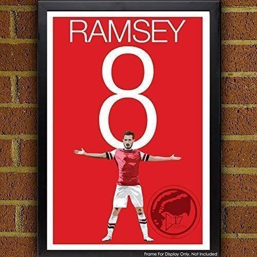 Aaron Ramsey Poster - Arsenal Soccer Art