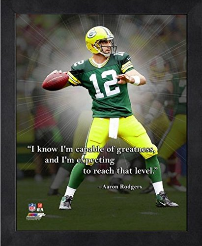 Framed Vince Lombardi Green Bay Packers Pro Quotes Photo Size: 9 x 11