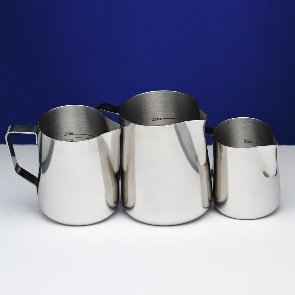 12 oz Stainless Steel Frothing Pitcher with Graduated Interior Markings by National Etching (Image #5)