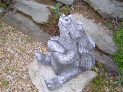Para Jardín Decoración Figura Dragón Fantasía Figuras de piedra Dragón piedra figuras: Amazon.es: Jardín
