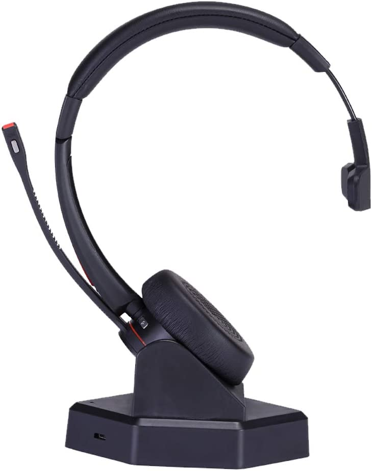 Amazon Com Mkj Wireless Headset With Microphone For Office Phone Conference Headset Noise Cancelling For Voip Softphones From Yealink Grandstream Cell Phones Computer Pc Laptop Skype Calls Microsoft Teams Etc Home Audio