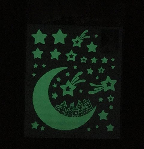 dce042d320a0 Amazon.com: Global Brands Online Glow in The Dark Home Decor Shining Star  Luminescence Sticker: Home & Kitchen