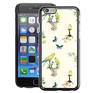 Planetar® ( Birds Spring Wallpaper Vintage ) Apple iPhone 6 / 6S (4.7 inches!!!) Fundas Cover Cubre Hard Case Cover