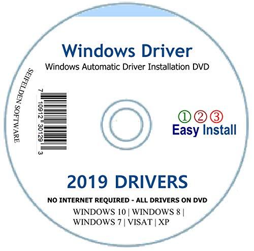 Automatic Driver Installation Recovery Disc for Windows 10, 7, Vista and XP. Supports HP Dell Gateway Toshiba Gateway Acer Sony Samsung MSI Lenovo Asus IBM Compaq eMachines (DVD-DRIVE) ()