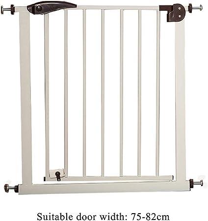 LIZIWL Barreras para Puertas y escaleras Seguridad Puerta Corte Libre Escalera Valla 76cm de Alta Brown Utiliza for aislar bebé Animales (Size : 75-82CM): Amazon.es: Hogar