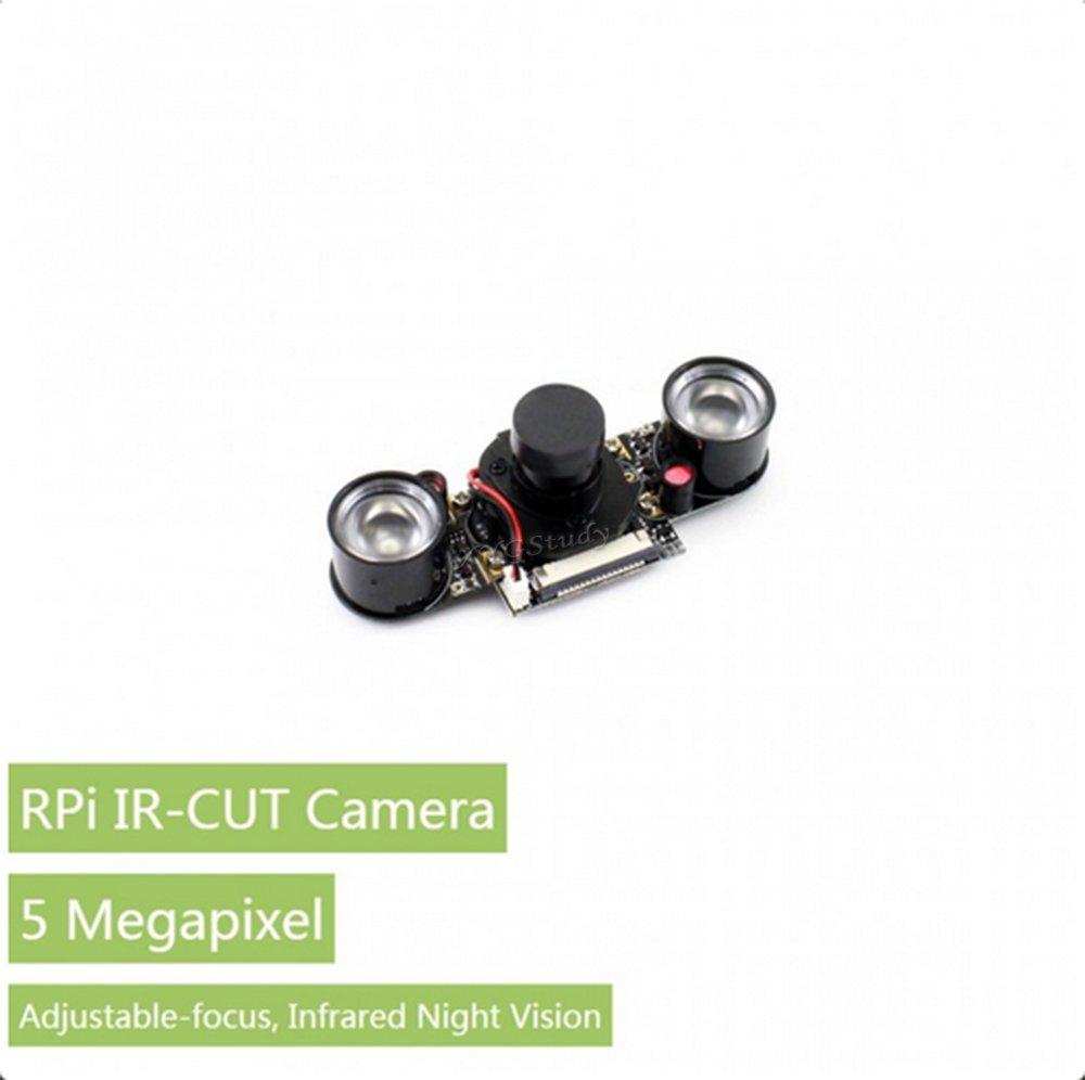 RPi IR-CUT Camera Raspberry Pi Camera Module Embedded IR-CUT Supports Night Vision Better Image in Both Day and Night OV5647 1080p for Pi A+/B+/2B/3B Zero V1.3 @XYGStudy
