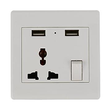 XCSOURCE® Enchufe de Pared Universal Sencillo con Cargador USB e ...