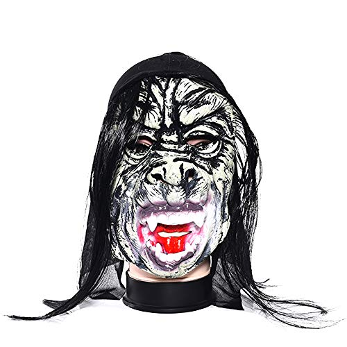 Uesae Halloween Mask Scary Adults Masquerade Mask Makeup Party Ghost Latex Halloween Decorations Costume Party Fancy Dress Party Cosplay Carnival Accessory 1pcs ()