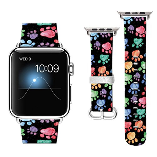 38 mm Apple Watch Band, Watchbands for Apple Watch, Apple Watch Bands Compatible with Apple Watch Nike+ Series 2 Series 1 Sports Edition Dog footprints