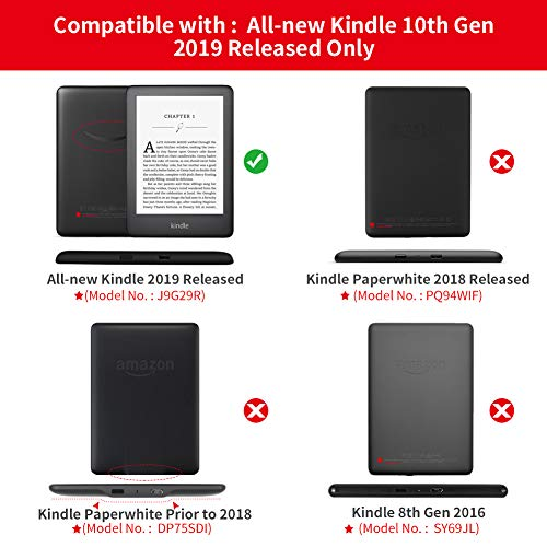 Jingdu Painting Leather Case for All New Kindle (10th Generation, 2019  Release), Slim Lightweight Smart Cover Shell with Auto Wake/Sleep Function,
