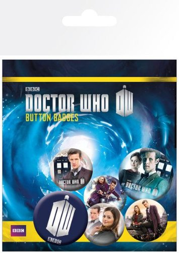Cyberman Costumes Doctor Who (Doctor Who Series 7 Part 2 Badge Pack (6 x Badge Set))
